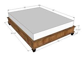 Bed Frame Queen Bed Frame Size