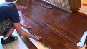 installing a floating wood floor
