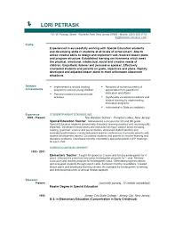 Objective For Teacher Resume Special Education Resume Objective 29