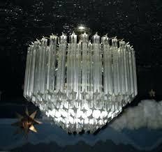 rhys glass prism chandelier image 0 six tier crystal ceiling mount mid prism framed mercury glass chandelier