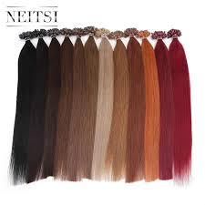 <b>Neitsi</b> Straight <b>Keratin</b> Capsules Human Fusion Hair Nail U Tip ...