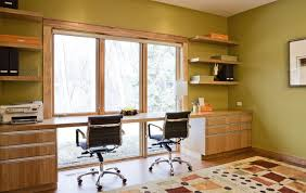 desk in front of window.  Front Front Window Desk Home Office Contemporary With Wood Trim High Back Task  Chairs In Desk Front Of Window I
