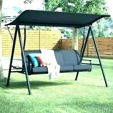 wooden patio swing porch swings with frame stand canopy seater