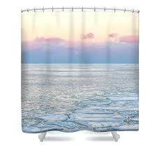 frozen curtains shower curtain featuring the photograph sunset across lake by framing places kmart disney