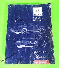 reatta manual 1988 buick reatta riviera service shop repair manual book