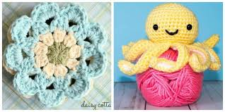 Quick And Easy Crochet Patterns Mesmerizing Easy Crochet Patterns Free Crochet Patterns On Daisy Cottage Designs