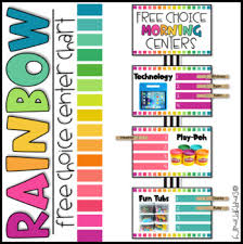 Rainbow Chart Work Free Choice Centers Chart Early Finishers Morning Work Editable