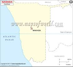 Namibia Distance Chart Namibia Time Zone Map Current Local Time In Namibia