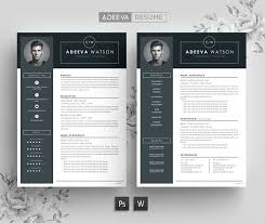 Professional Resume Template Watson Resume Templates Creative Market Fascinating Professional Resume Design