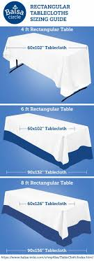 wedding table size chart. find the right tablecloths for your banquet tables : https://www.balsacircle wedding table size chart g