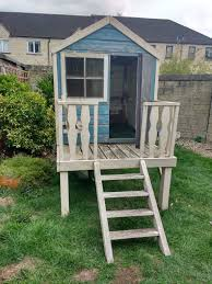 outdoor childrens wooden playhouse sold
