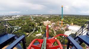sheikra front row pov ride at busch gardens tampa bay on roller coaster day 2016 dive coaster