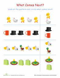 Patterns For Preschool Delectable What's Missing 48 Worksheet Education