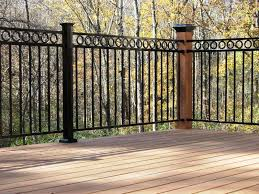 Types of deck railings Balusters Black Wrought Iron Porch Railings Thehrtechnologist Black Wrought Iron Porch Railings Thehrtechnologist Types Of