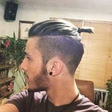 side shave long top haircut for men
