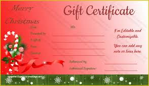 Free Printable Gift Certificate Template Word Free Printable Christmas Gift Certificate Template Word Of
