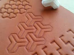 leather stamp 16 mc escher geometrical pattern 3d printed mc esher leather stamp tool pattern
