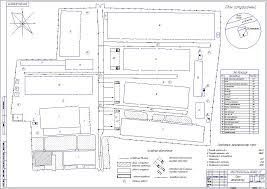 Реконструкция и модернизация зоны ТО и ТР Дипломна работа Генеральный план предприятия чертеж
