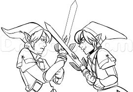 The Legend Of Zelda Link Coloring Pages Color Bros