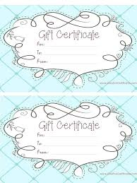 gift certificate templates free template customize and print at home printable certific