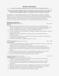 Operation Manager Resume Template Examples Facilities Manager Resume