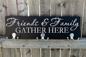 Personalized Family Coat Rack Personalized Coat Rack Coat hanger Friends Family Quote Wood 36