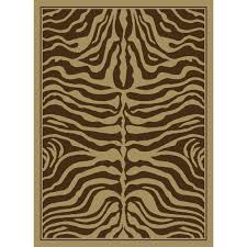 united weavers china garden brown zebra rug
