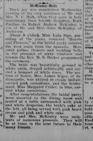 Robert Andrew Mckinley Pauline Holt marriage - Newspapers.com