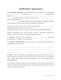 When we talk about arbitration, it's a process in which two parties here is preview of a free sample arbitration agreement template created using ms word Arbitration Agreement Template Download Printable Pdf Templateroller
