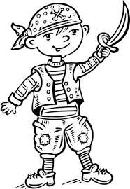 Disegno Di Bambino Vestito Da Pirata Da Colorare Disegni Da