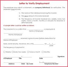 Income Verification Letter Format Employment And Proof Of