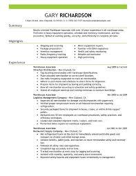 Warehouse Worker Sample Resume 7 Resume. Warehouse Worker