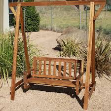 ... Q Toys wooden timber garden swing for toddler or adult ...