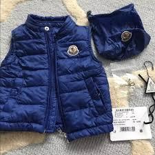 Moncler baby boy blue 6-9 Months Amaury vest