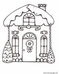 Small Picture Christmas Gingerbread House 1 Coloring pages Printable