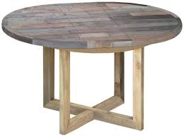 soro reclaimed pine round extending dining table 110cm 150cm