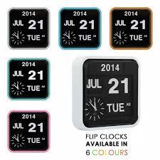 pastel pink retro square calender flip clock wall clocks cult uk