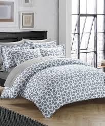 love this product gray geometric claudette reversible duvet cover set