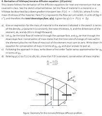 derivation of hillslope moraine diffusion equation
