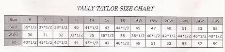 Ben Marc Size Chart Size Charts