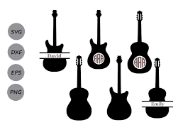 You may also like big mouth bass or australian bass clipart! Guitar Svg Files Guitar Monogram Svg Guitar Clipart 86582 Cut Files Design Bundles