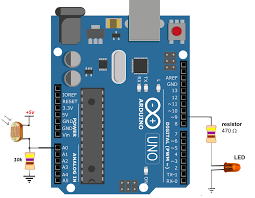 Analog Light Sensor Arduino Fading Led With Ldr Light Dependent Resistor Using Arduino Uno