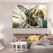 retro antique vintage aircraft airplane engine turbine wall art canvas decor painting print poster on vintage wall art canvas with vintage airplane engine wall art multi panel canvas mighty paintings