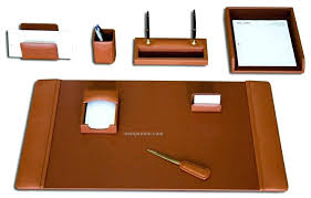 leather desk accessories tan brown 8 piece classic set south africa