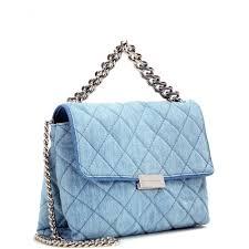 Stella mccartney Soft Beckett Quilted-Denim Shoulder Bag in Blue ... & Gallery Adamdwight.com