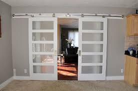 double glass barn doors. Barn Style Interior Door Double Glass Doors L