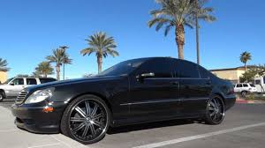 2005 Mercedes s500 w/ 22 Inch 3 Piece Rims - YouTube