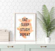 dorm room printable wall typography