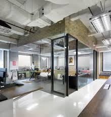 office space interior design. Industrial Office Space Ideas With Glass Wall Interior Design