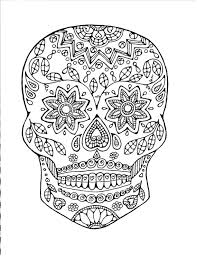 Small Picture Sugar Skull Coloring Page Adult Coloring Page Colouring book